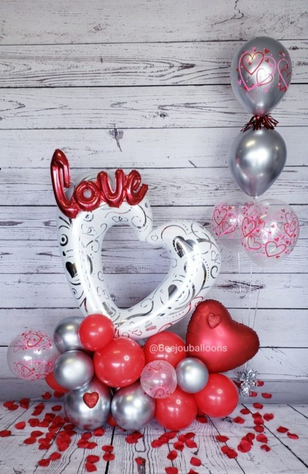 Hearty Love beejouballoons.com balloons bouquet love