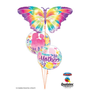 Rainbow Butterfly Mother's Day beejouballoons.com balloons bunches st agustine florida bouquets decor events surprises gifts delivery decorations party