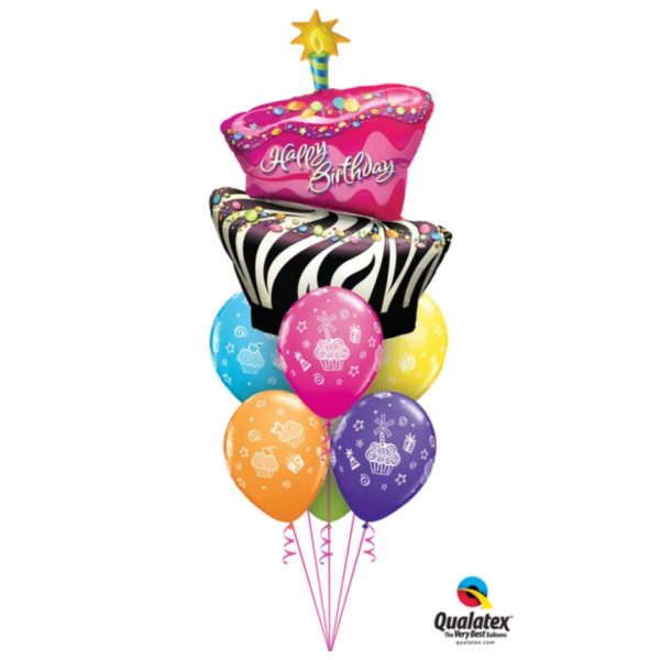 Take The Cake Balloon Bunch beejouballoons.com balloons bunches st agustine florida bouquets decor events surprises gifts delivery decorations party Take The Cake