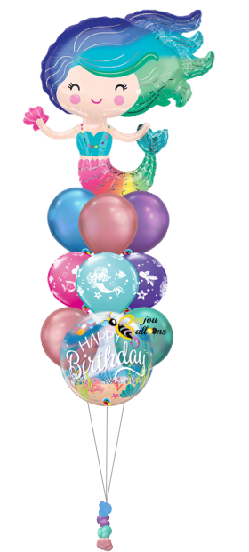 2 - Mermaid Fairy - Bunch Balloon beejouballoons.com balloons bunches st agustine florida bouquets decor events surprises gifts delivery decorations party