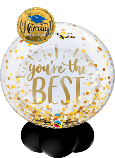 Hooray Grad - Bunch Balloon beejouballoons.com balloons bunches st agustine florida bouquets decor events surprises gifts delivery decorations party