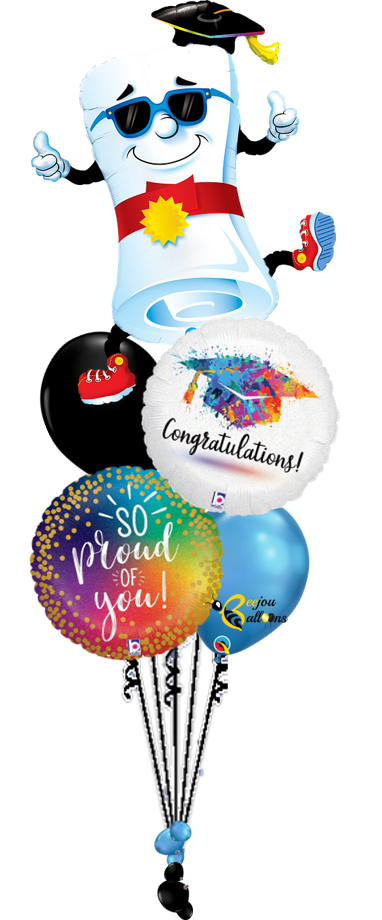 Proud of You - Bunch Balloon beejouballoons.com balloons bunches st agustine florida bouquets decor events surprises gifts delivery decorations party