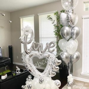 Sophisticated White Heart beejouballoons.com Saint Augustine Fl Bouquets Balloons Decorations Party Gifts Surprises 4