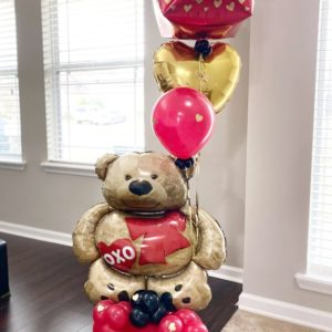 Mr. Bear - beejouballoons - Balloon Bouquets - Valentines - Balloon Delivery