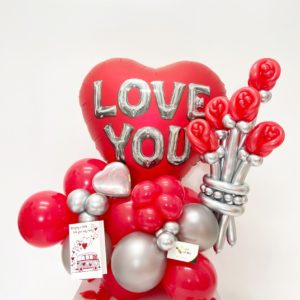 I LOVE YOU Bouquet - beejouballoons - Balloon Bouquets - Valentines - Balloon Delivery
