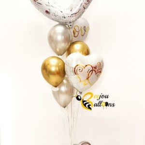 Open Heart - beejouballoons - Balloon Bouquets - Valentines - Balloon Delivery