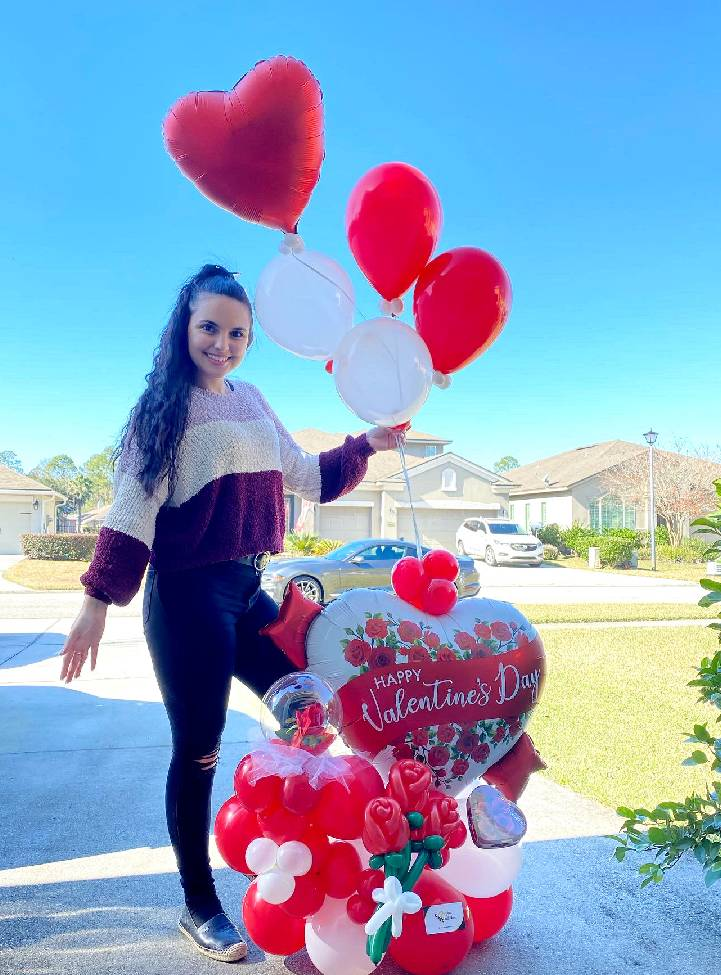 balloons st agustine, balloons delivery near me, helium balloons near me, number balloons, beejouballoons - Balloon Bouquets - Valentines - Balloon Delivery